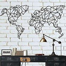 Dekadron Carte du monde en métal - Décoration