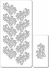 dekofee Set de pochoirs décoratifs #1