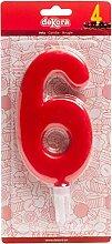 Dekora - Bougie d'Anniversaire Géante Numéro