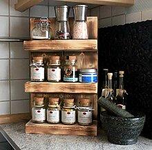 Dekorie Étagère à épices en bois - À fixer au