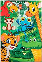 Deladeco - Tapis de chambre enfant multicolore