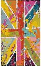 Deladeco - Tapis drapeau anglais multicolore