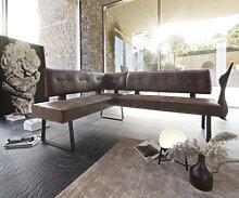 DELIFE Banc d'angle Yanis 200x160 cm marron