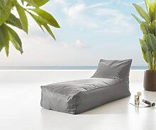 DELIFE Chaise-longue Edley Grey 160x70 cm en tissu
