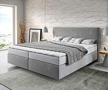 DELIFE Lit-à-sommier-tapissier Dream-Well 180x200