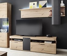 DELIFE Meuble-TV Farum 180 cm en mélamine look