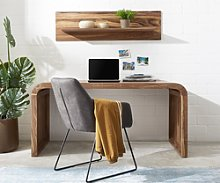 DELIFE Table-bureau Wally 160x75 cm sheesham