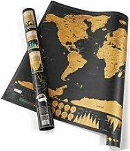 deluxe edition Voyage gratter carte du monde