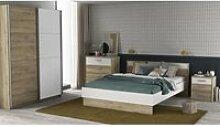 DEMEYERE Chambre complète lit 140x190 + 2 chevets