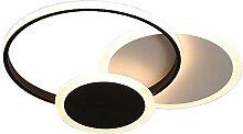 DENGJIN Moderne LED Plafonnier Salon 3 Rond Forme