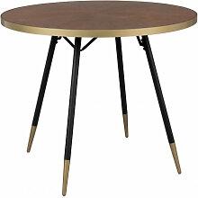 DENISE XL - Table design de repas ronde art déco