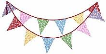 Deror 12 Drapeaux Multicolore Fanion bannière