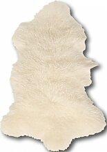 Descente de lit peau d'agneau blanc 100x70