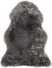 Descente de lit peau de mouton gris 100x70