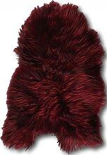 Descente de lit peau de mouton rouge 90x60