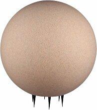 Design extérieur plug-in lampe boule sable pierre