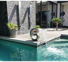 Design Moderne Cascade Fontaine Piscine California