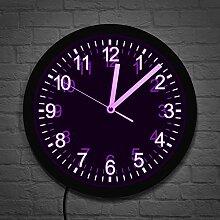 Design Moderne LED éclairage Horloge Murale