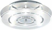 Design plafonnier chrome salon éclairage lampe en