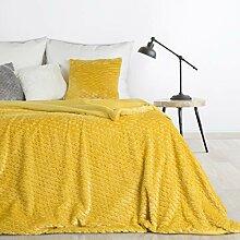 Design91 Plaid doux Amber - Couvre-lit moelleux -