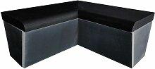 Desineo - Banc arrondi avec angle 2x1000 mm x 470