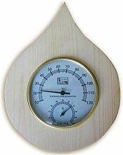 Desineo - Thermomètre, Hygromètre pour Sauna