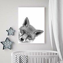 Dessin toile Art affiche imprime Animal coucou