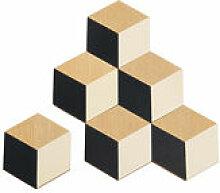 Dessous de verre Table Tiles / Bois - Set de 6 -