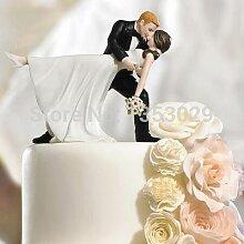 Dessus de gâteau de mariage pour un trempage