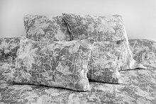 Dessus de lit Albigny jacquard en coton Graphite