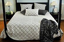 Dessus de lit Amsterdam en coton écru/noir