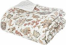 Dessus de lit en coton et viscose, coloris blanc