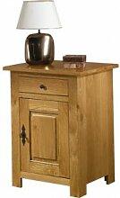 Destock Meubles Confiturier chêne 1 porte 1 tiroir