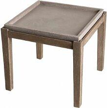 Destock Meubles Table d'appoint carrée L50cm