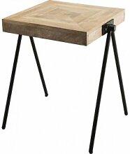 Destock Meubles Table d'appoint carrée