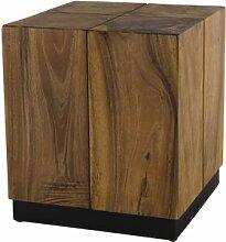 Destock Meubles Table d'appoint carrée Suar