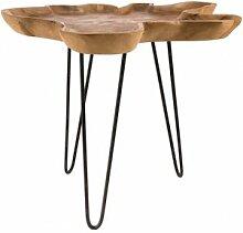 Destock Meubles Table d'appoint plateau forme