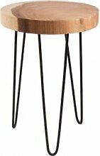 Destock Meubles Table d'appoint ronde mungur
