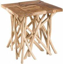 Destock Meubles Table d'appoint teck naturel