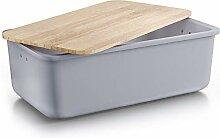 Destyx® Boîte à pain en bambou avec planche à