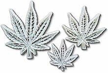 détaillée Lot de 3cannabis de chanvre Forme de