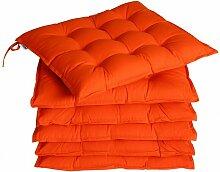 Detex - 6x Coussins de chaise fibres creuses
