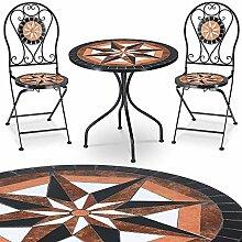 Deuba Ensemble Salon de Jardin - Table 2 chaises