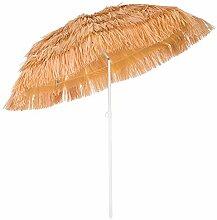 Deuba Parasol Hawaii - Ø 160 cm - Naturel -