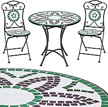 Deuba Salon de Jardin FLORALIS mosaique - 1 Table