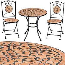 Deuba Salon de Jardin Roma 1 Table & 2 chaises en
