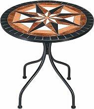Deuba - Table en pierre de mosaïque Ø 60cm 4