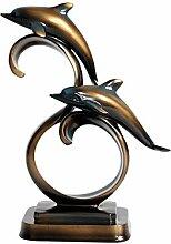 Deux Dolphin Design figurine décoratif