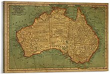 DFGDSA Carte du monde vintage de l'Australie -