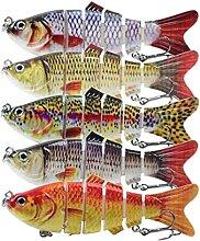 Dfghbn Appâts De Pêche 4 Pouces 6 Segments